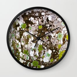 437 - Abstract Lichen Design Wall Clock