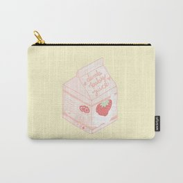 Strawberry Juice Box Carry-All Pouch