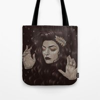 lorde Tote Bags featuring Ella by Helen Green
