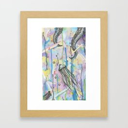 Octo Jelly Chaos Framed Art Print
