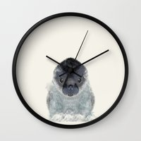 seal Wall Clocks featuring little seal by bri.buckley