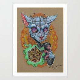 Pinhead Kitty Art Print