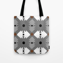 Modern Desert Fox Southwest Pattern Tote Bag