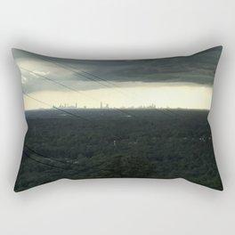 Atlanta Under a Storm Rectangular Pillow