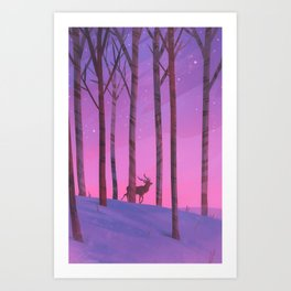 Among the Birch Art Print