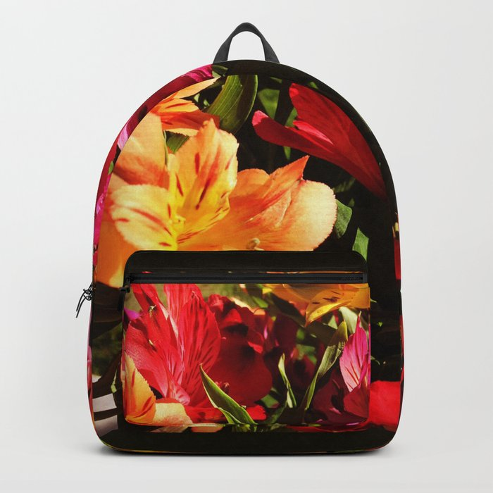 Summer Rainbow of Flower Blossoms Backpack