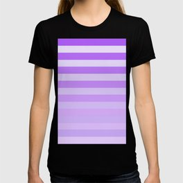 Purple Stripes Fade T-shirt