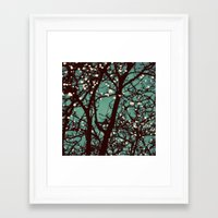 lights Framed Art Prints featuring Night Lights by elle moss