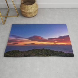 Lenticular Cloud Red Sunset Photographic Landscape Rug