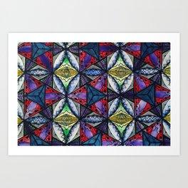 Crystalized Merkaba Art Print