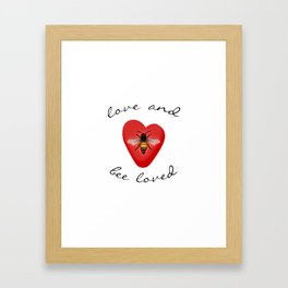 Love and Bee Loved Framed Art Print