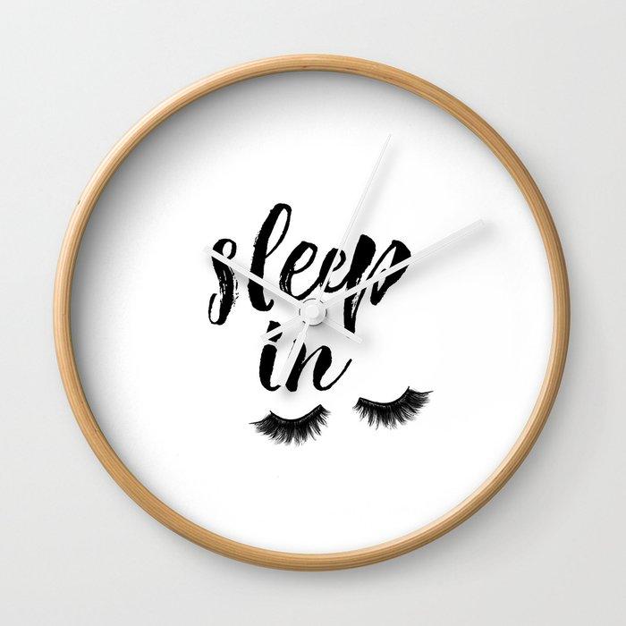 Sleep In Print Sleep In Sign Sleep Art Eyelash Wall Art Bedroom