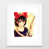 kiki Framed Art Prints featuring Kiki by kimiyo