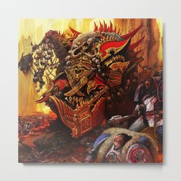 the king orc Metal Print