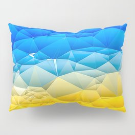 Sunshine and Blue Sky Quilted Abstract Pillow Sham