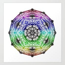 Rainbow Mandala One Art Print