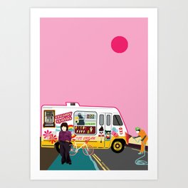 Ice Cream and Synth Art Print