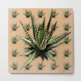 Aloe Vera abstract field Metal Print