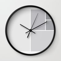 fibonacci Wall Clocks featuring Fibonacci Blocks by darkimagnus