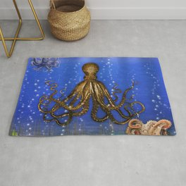 Octopus' Lair - colorful Rug