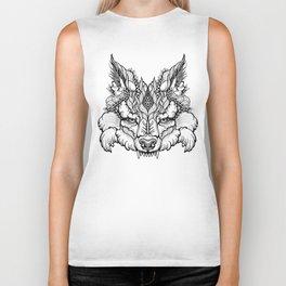 WOLF head. psychedelic / zentangle style Biker Tank