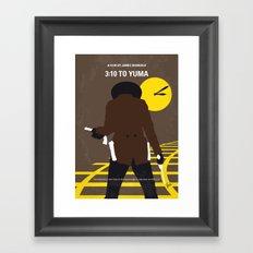 No726 My 310 to Yuma minimal movie poster Framed Art Print
