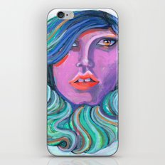 Pretty Oceanic Ombre Face iPhone & iPod Skin