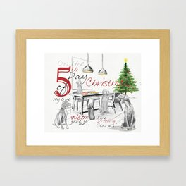 FIFTH DAY OF CHRISTMAS WEIMS Framed Art Print