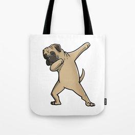 Funny Dabbing Bullmastiff Dog Dab Dance Tote Bag