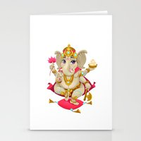 ganesh Stationery Cards featuring Ganesh by Danilo Sanino