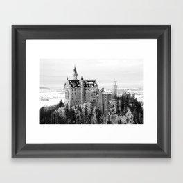 Neuschwanstein Castle in Winter Framed Art Print