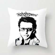 Hahahrawrrahaha Throw Pillow
