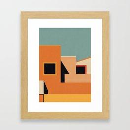 Summer Urban Landscape Framed Art Print