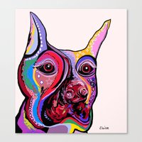 doberman Canvas Prints featuring Doberman by EloiseArt