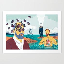 """Read the Lost Dream Journal... Four Men"" by Federica Bordoni for Nautilus Art Print"