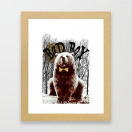 Bad Boy Bear Framed Art Print