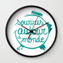Sourires autour du monde couleur Wall Clock