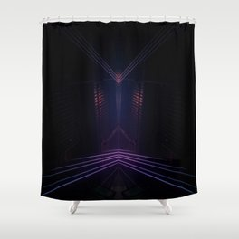 Long lights  Shower Curtain