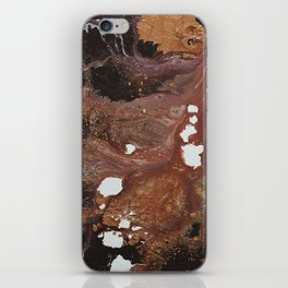 Copper abstract liquidity. iPhone Skin