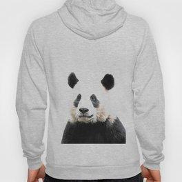 Panda Watercolor Panda Bear Portrait Hoody