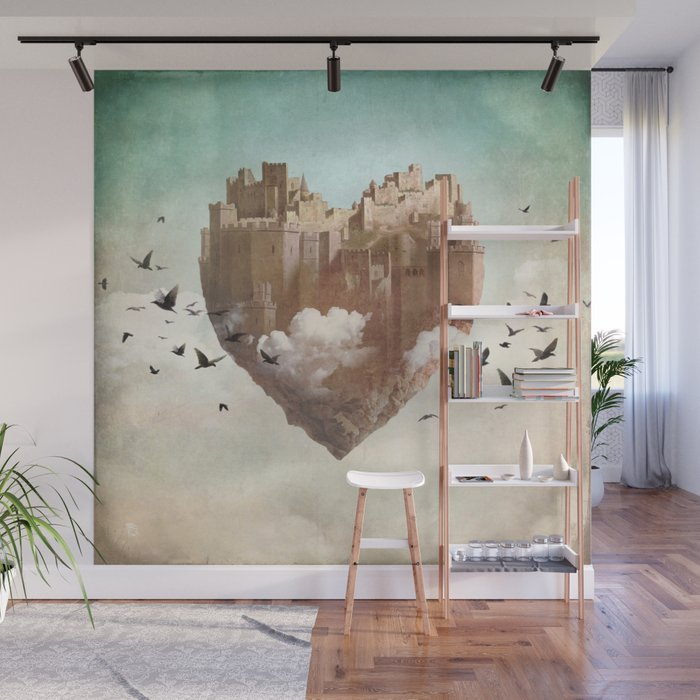 My Heart Is My Castle Wall Mural by christianschloe Society6