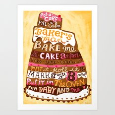 Pat A Cake Art Print
