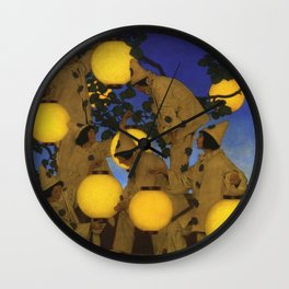 The Lantern Bearers by Maxfield Parrish Wall Clock