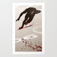 Bloody Skating - The Runner Up Art Print