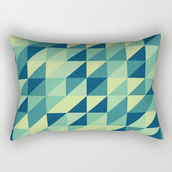 turquoise pattern Rectangular Pillow