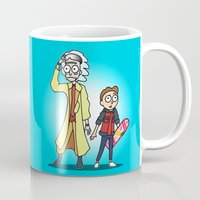 marty mcfly Mugs featuring Doc & Marty by NeonBones