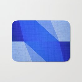 Lapis Lazuli Shapes - Cobalt Blue Abstract Bath Mat