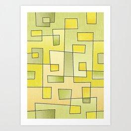 "Proto pattern n 2 ""fresh lemonade"" Art Print"