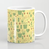 fitness Mugs featuring Fitness  by S. Vaeth