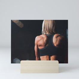 Fitness Girl Motivation Mini Art Print